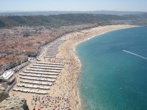 Nazare city and beach - Lisbon airport transfers to nazare with  www.Lisbon-airport-transfers.com